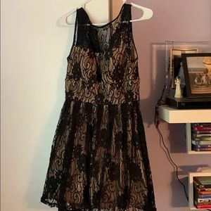 Dresses & Skirts - Black and Beige lace dress